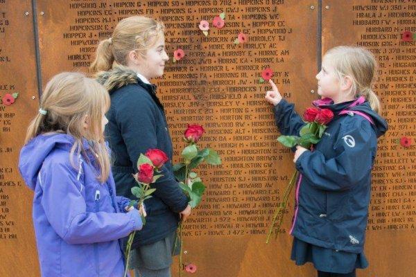 School children honour Bomber Command losses