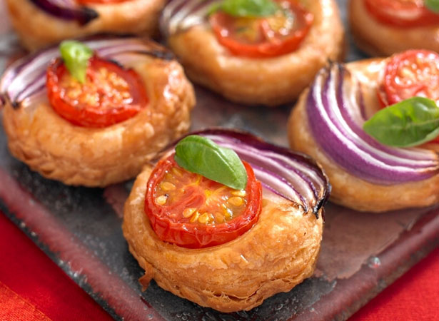 Tomato and Red Onion Galettes