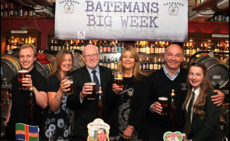 Batemans Brewery supports eight charities through 2015