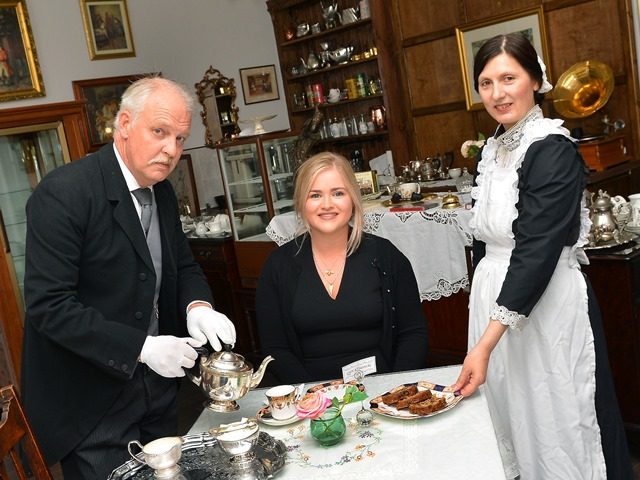 Steampunk couple open Downton Abbey inspired tea room in Lincoln