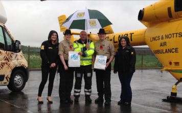 Say 'peas please' to help raise money for Lincs & Notts Air Ambulance