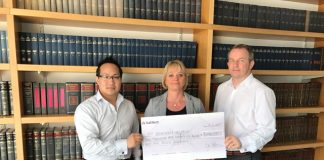 Skegness law firm raises £3k for St Barnabus Hospice