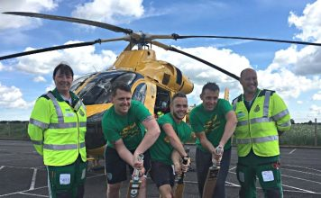 Cricketers beat world record in aid of Air Ambulance