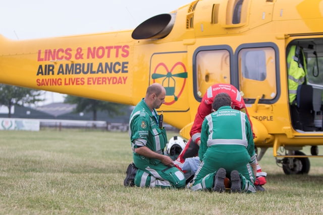 Lincs & Notts Air Ambulance clock up busiest day with new