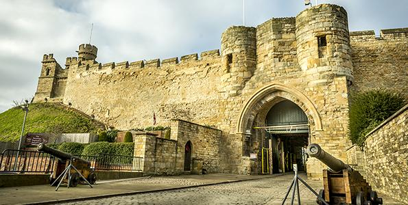 Lincoln Castle celebrates the royal wedding