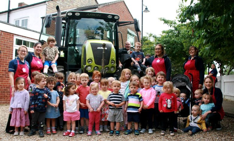 Tractor treat for Swineshead nursery children