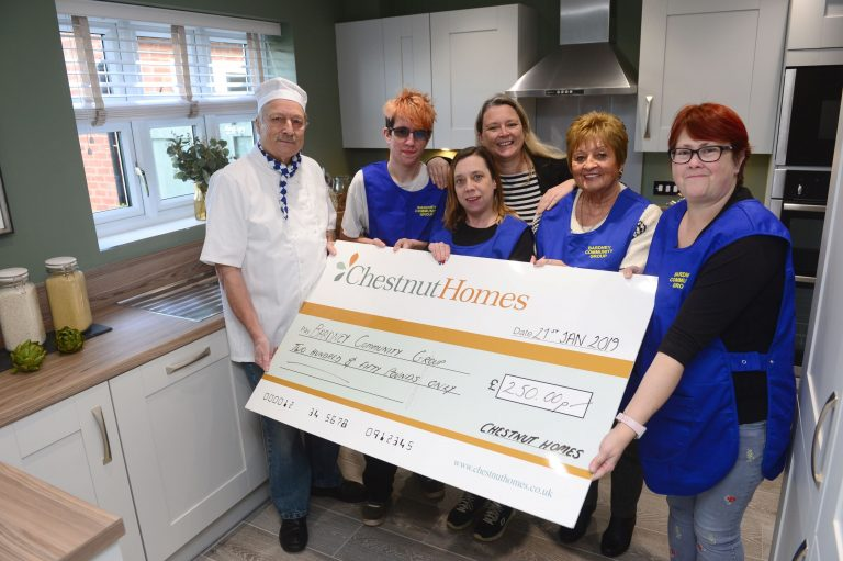 Delighted Lincolnshire community group backed by Chestnut Homes