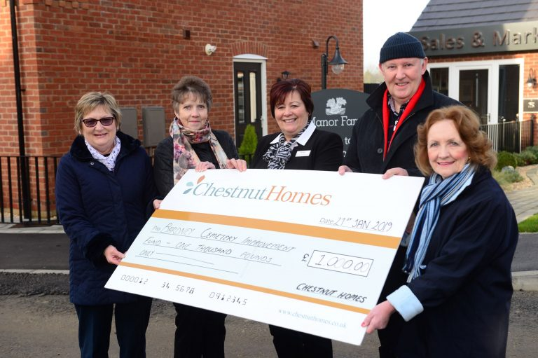 Bardney Cemetery Improvement Fund benefits from housebuilder's support