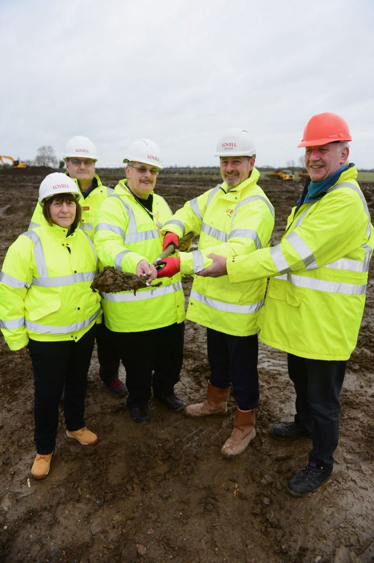 Work starts at new housing development in Saxilby