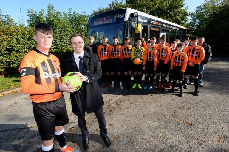 Stagecoach East Midlands announces sponsorship of local football team Hykeham Tigers Under 15's club