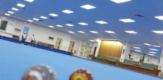 Indoor Bowling Club breaks with tradition and goes blue