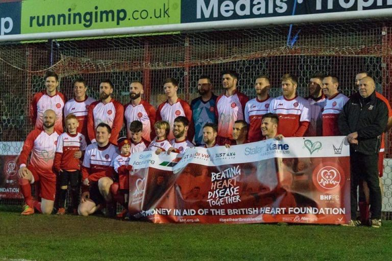 Charity football match to raise funds for British Heart Foundation