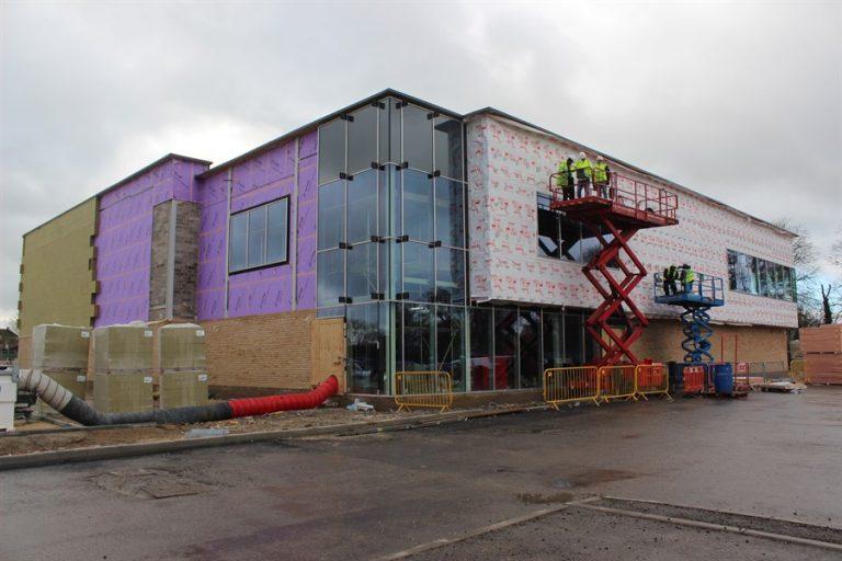 Construction of Market Rasen leisure centre progressing despite COVID-19