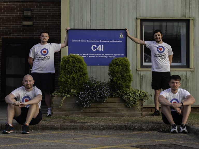 RAF Coningsby personnel mark 102 years of RAF with 102km run