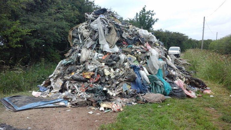Huge heap of waste dumped near Fulbeck