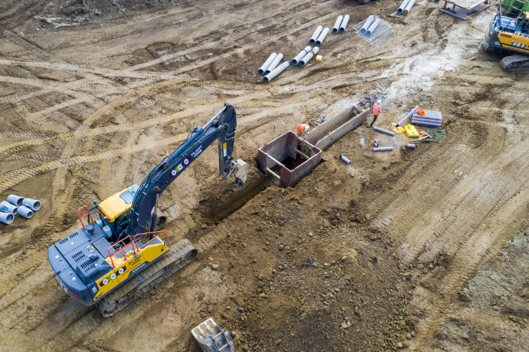 Construction begins on new homes near Grantham