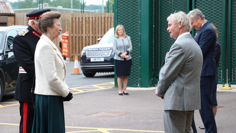 HRH Princess Anne officially opens police, fire and ambulance station in Lincoln