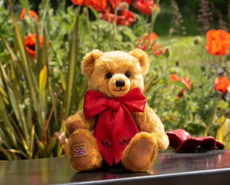 Special Merrythought Teddy Bear Unveiled for Royal British Legion's Centenary Poppy Appeal