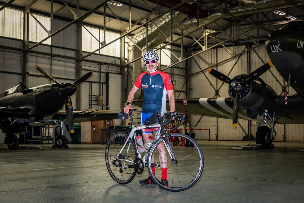 RAF super cyclist sets sights on final leg of 5,600-mile challenge