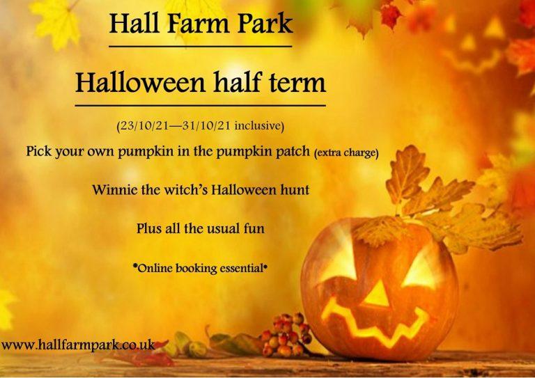 Halloween half term fun at Hall Farm Park